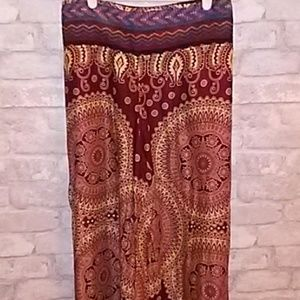 Toriwear 100% cotton harem palazzo pants